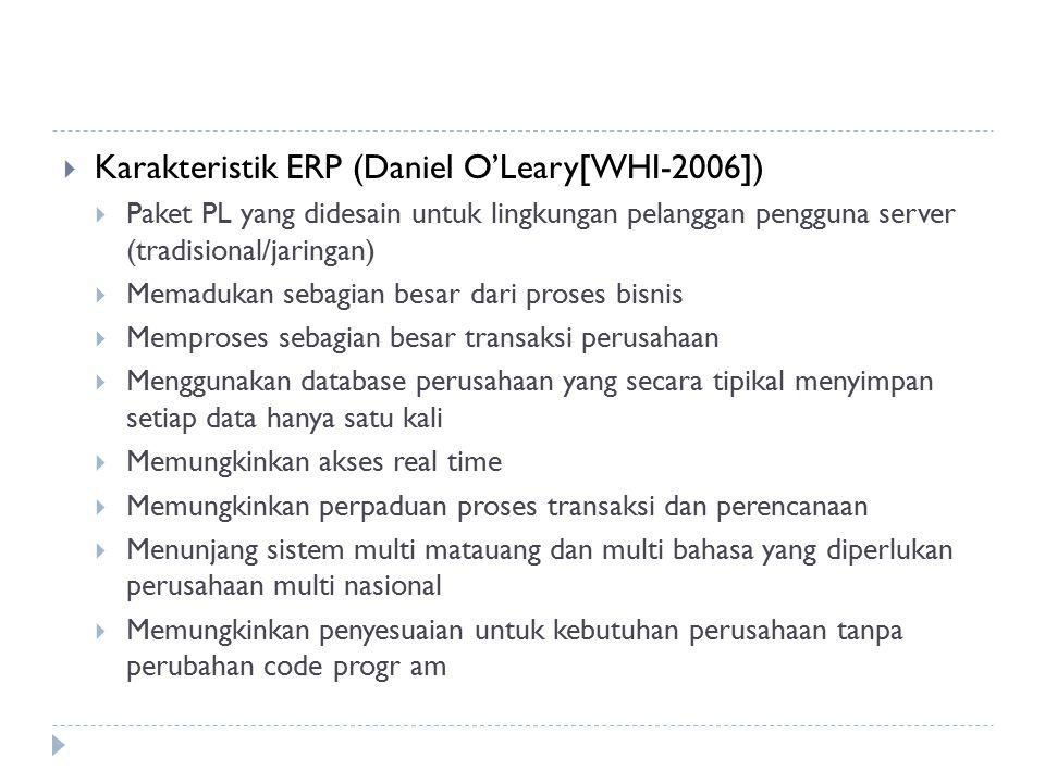 Karakteristik ERP (Daniel O'Leary[WHI-2006])